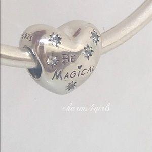 Authentic Pandora be magical charm Disney silver